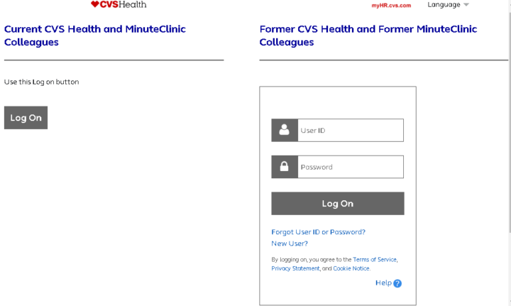 My HR CVS official employee portal