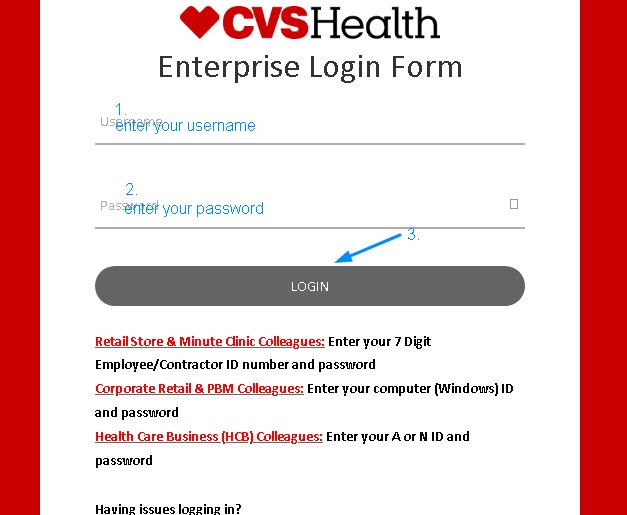 MyHRCVS Employee Login Interface