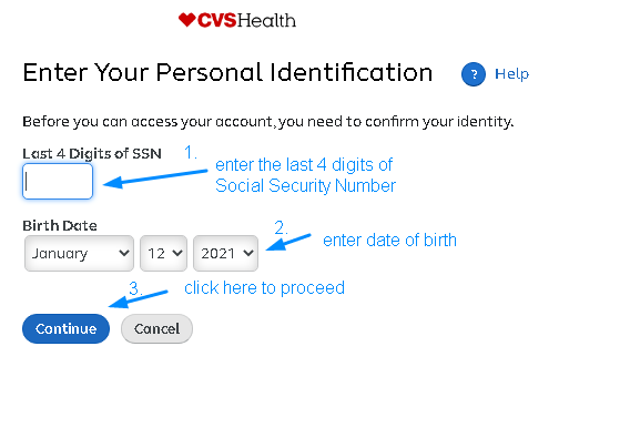 MyHRCVS Registration Page