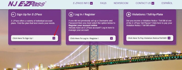 NJ EZ-Pass Official Website