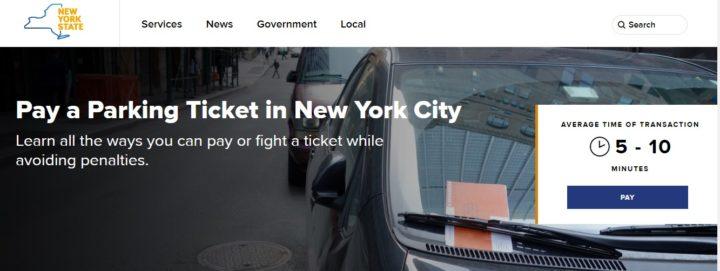 Pay New York Parking Ticket ONline
