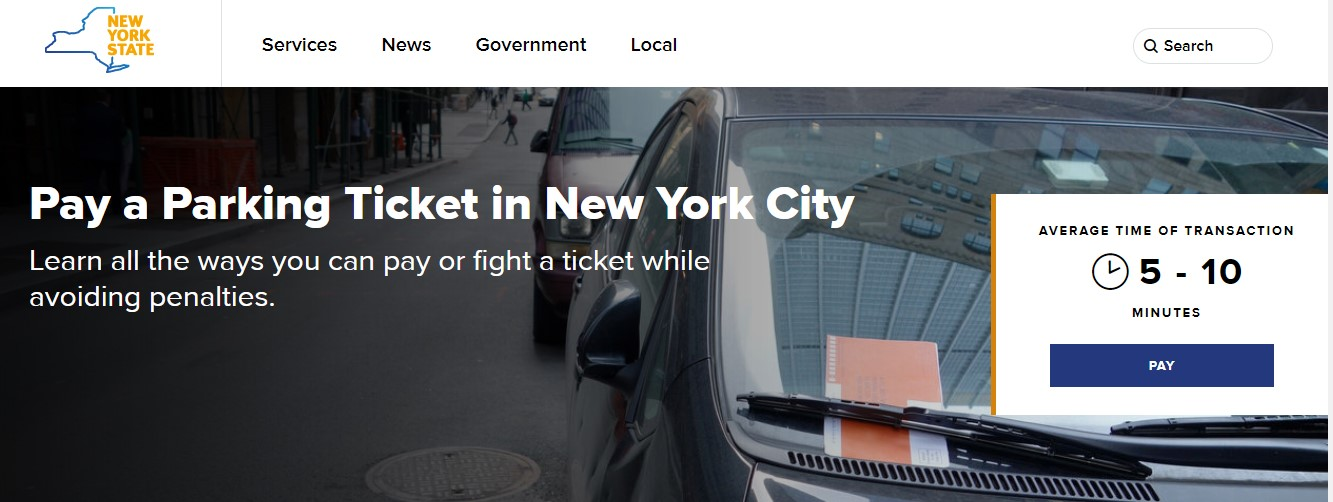 Pay New york Parking tickets online