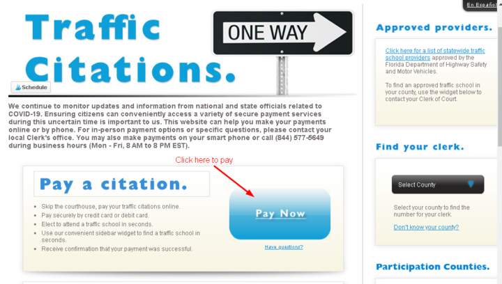 Pay Traffic Ticket Online in Florida