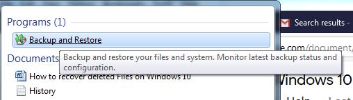image- windows explorer-screenshot - Backup and RFestore files
