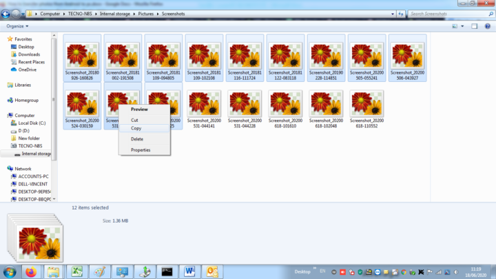 image-windows-explorer-selecting images for transfer